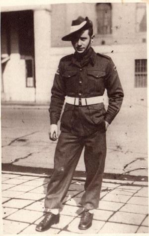 Lance Corporal Leslie John Hildebrandt in Japan 1946